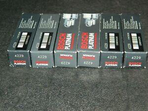 6 BOSCH PLATINUM 4229 SPARK PLUGS FOR NISSAN 240SX AXXESS D21 PICKUP NEW