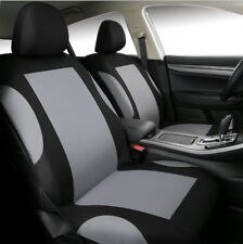 9 Pcs Breathable Polyester Gray Car Seat Covers Set for Auto Front Rear