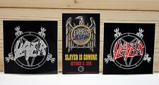 Slayer Band 3 Promo Vinyl Stickers Decals Thrash Metal Rock Skateboard Skatepunk