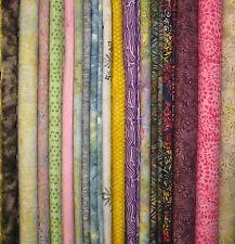 "Fabric-5"" Strips-All Batik-Scraps-Remnants-100% Cotton-Quilting-Two POUNDS+++"