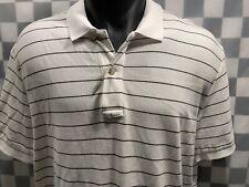EDDIE BAUER Outdoor Polo Men's White Striped Shirt Size L
