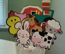 8 Pc Farm Home Party Decoration Centerpiece or Diaper Cake Topper