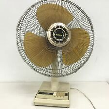 Vintage National 5 Way Oscillation Table Fan Brown 3 Settings Plastic #209