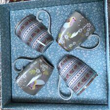 PIP STUDIO HOME Floral Collection Gift Box 4 pc KHAKI Large 12oz Coffee TEA MUGS