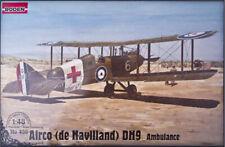 De Havilland DH9 British Ambulance WWI 1/48 Scale Plastic Model Kit RODEN 436