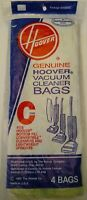 Genuine HOOVER C Type Vacuum Bags 4 pack Bottom Fill Lightweight Upright NEW