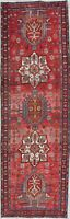 Antique Geometric Traditional Runner Rug Wool Hand-knotted Oriental Carpet 3x9