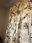 Vintage+Hawaiian+Barkcloth+Tiki+Mid+Century+Curtains+Drapes+4+Panels