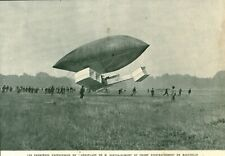 Document ancien premières expériences de l'aéroplane issue de magazine 1906