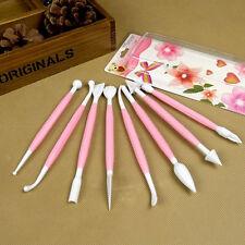 8Pcs Hot Fondant Cake Decorating Sugarcraft Paste Flower Modelling Tools Set