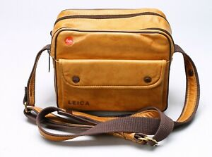 LEICA LEATHER CARRYING CASE / SHOULDER BAG FOR M OR R SYSTEMS - MADE IN GERMANY