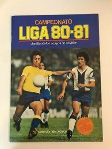 LIGA ESTE 1980-81 80-81 ÁLBUM PLANCHA+ COLECCIÓN COMPLETA (394 CROMOS NUEVOS)
