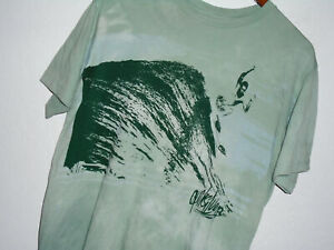 QUIKSILVER Surf T-Shirt ALOHA Sewn #7 GREEN Pigment Dyed Hawaii Surfer NEW : Lg