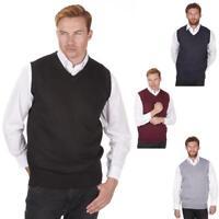 Mens Pierre Roche Sleeveless Jumper Sweater | Slip Over Tank Top