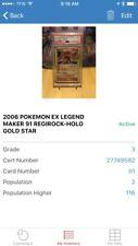 Pokemon Regirock Gold Star Ultra Rare EX LegendMaker 91/92 Psa 3 VG Graded Pop 1