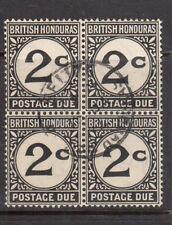 British Honduras #J2 Fine - Very Fine Used Scarce Block