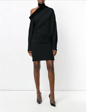 $2890 TOM FORD Long-Sleeve Sable Jersey Scarf Dress-NWT SZE 40