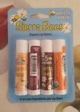 Sierra Bees Organic Moisturising Nude Lip Balm Variety, 4 pack - 4.25g each