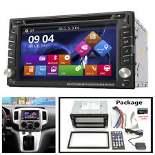 2Din GPS Navigation HD Car Stereo DVD CD Player Bluetooth Radio iPod+8G Map Card