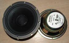 2 x Sony 1-554-475-21 5 pouces 128mm blindé aimant hifi haut-parleur 8 ohm 3j673 20 W