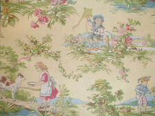 Waverly CHILDHOOD MEMORIES SORBET Yellow Baby Nursery Rhyme Toile Remnants