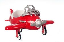 Dollhouse Miniature - Red DieCast Airplane Pedal Car