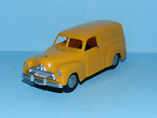 MODIFIED  MICRO MODELS plastic FJ Holden Panel Van Yellow with decals removed