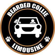 "Limousine Bearded Collie 5"" Dog Sticker"