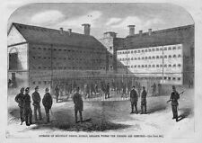 FENIANS CAGED 1866 HISTORY MOUNTJOY PRISON DUBLIN WHERE FENIANS ARE CONFINED