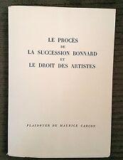 "1952 Louis Carre to Monroe Wheeler Estate of Bonnard ""Le Droit Des Artistes"""