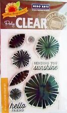 Color Layering Graphic Flowers Clear Acrylic Stamp Set by Hero Arts CL862 NEW!