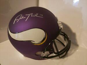 Adam Thielen Signed Flatte Purple Vikings Full Size Replica Helmet JSA-COA 🔥🔥