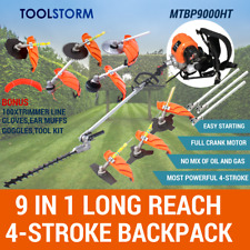 4-STROKE Backpack Pole Hedge Trimmer Garden Saw Brush Cutter Whipper Snipper