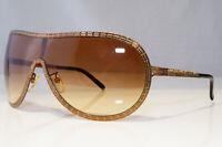 GIVENCHY Mens Womens Designer Sunglasses Gold Shield SGV 250 R80 20415