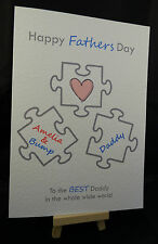 Personalised HandMade Happy Fathers Day Card from the Bump - Daddy, Dad, Grandad
