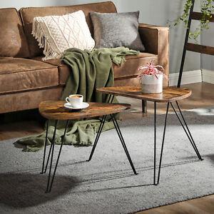 VASAGLE Set of 2 Side Tables, Nesting Tables, End Tables, Living Room LNT012B01