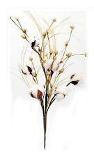 """Natural Cotton Pod Spray Home Wedding Floral Farmhouse Fall Decor 33"""" L NEW"""