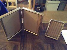 Two old vintage metal picture frames