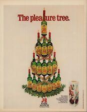 Vintage 1972 J&B RARE SCOTCH  Print Ad, Christmas Tree of Bottles, D1