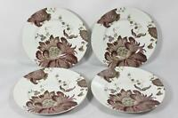 222 Fifth Eliza Plum Fine China Porcelain Floral Salad Plates Set of Four  New
