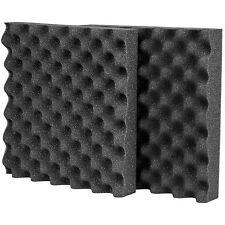 """Acoustic Eggcrate Foam 2 Pcs. 2-1/2"""" x 12"""" x 12"""" Prop 65 Com"""