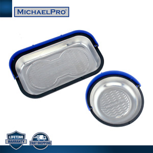MichaelPro 2pcs Hooded Magnetic Wave-Patterned Tool Trays (MP009014)