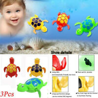3Pcs Baby Bath Pool Swimming Turtle Animal Toy Winding Wind-up For Kid Baby NEW