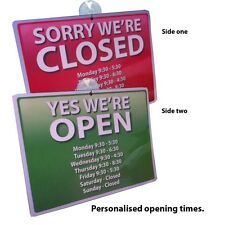 Personalised OPEN and CLOSED Window Sign