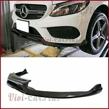 Carbon Fiber V Type Front Lower Lip For BENZ 2015+ W205 C-Sport Sedan AMG Bumper