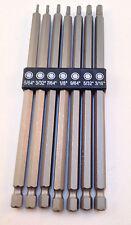 7pc Long Reach SAE Hex Bit Set w/Hex Shank CR-V Steel