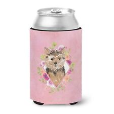 """Caroline's Treasures Pink Flowers Can or Bottle Hugger cold-beverage-koozies."