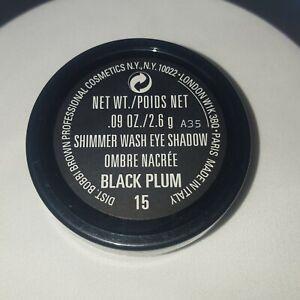 Bobbi Brown Eye Shadow Shimmer Wash 15 Black Plum .09OZ/2.6g Gone Not Forgotten