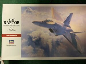 1:48 Scale F-22 Raptor Model Aircraft Kit - Hasegawa #07245 - IN STOCK