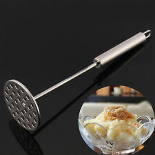 Potato Masher Stainless Round Plate 32 Holes Kitchen Cooking Tools Accessories